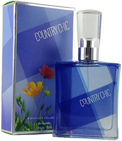 Bath and Body Works Country Chic Eau De Toilette Perfume Spray for Women 2.5 Ounce New In Blue Plaid Box