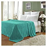 Superior Quality All-Season, Plush, Silky Soft, Fleece Blankets and Throws, Turquoise, Twin