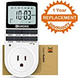 Tools & Hardware : Light Timer, UKOKE Timer Outlet, Appliance Timer with Outlet, 7 Day Weekly Programmable Outlet with Timer, Wall Timer Light Switch, Digital Light Timer, Plug-in Timer for Electrical Outle (1 Pack)