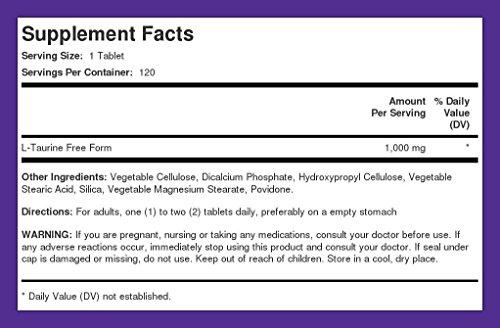Taurine 1000 mg 240 Tablets