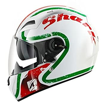 Shark Vision-R - Casco Integral, color Blanco/Rojo/Verde, talla