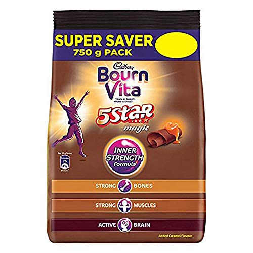 Cadbury Bournvita 5 Star Magic Health Drink, 750 gm Refill Pack