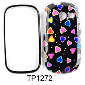 For Samsung Flight II A927 Case Cover - Multi-Colors Little Hearts on Black TP1272