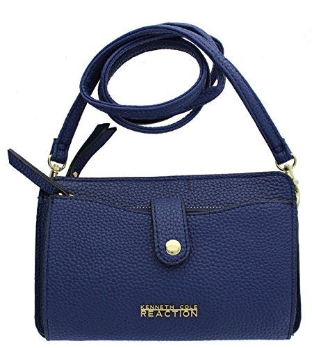 Kenneth Cole Reaction KN1868 Alpine Mini Crossbody Small Messenger Purse Shoulder Bag (MARINA) (Blue Cross Body Bag)