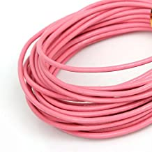 2.0mm Dia Pink Round Real Leather Necklace Charms Rope String Cord (5m/lot)