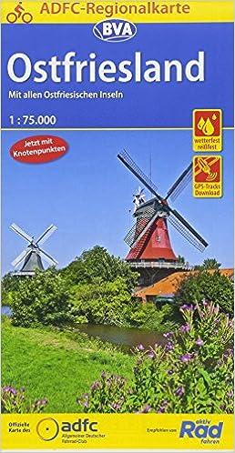 Ostfriesland Cycling Map German Edition Bielefelder Verlag 9783870738365 Amazon Com Books