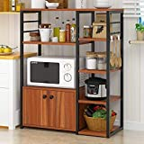 Hicy Home Kitchen Island,5-Tier Microwave Stand Storage,Baker's Rack...