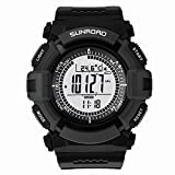 Constructan(TM) Sunroad 3ATM Waterproof Digital Outdoor Sports Military Watch Altimeter Compass LCD Stopwatch Pedometer Fishing Barometer