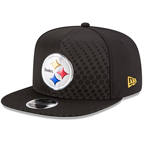 New Era Authentic Pittsburgh Steelers Black 2017 Color Rush 9FIFTY Snapback Adjustable Hat