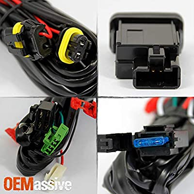 For 05-11 Toyota Tacoma Pickup Bumper Fog Lights Driving Lamps Set w/Bulbs + Wiring Harness + Switch: Automotive