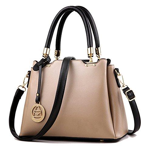 Bolso De Hombro De Las Mujeres Messenger Bag Classic Fashion Simple Khaki
