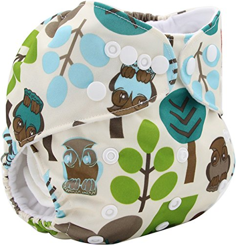 Cloth Diapers - Baby Cloth Diapers - Baby Cloth Diaper Cover Bamboo Velour Fitted Diaper Washable Brand Baby Nappy Animal Print Reusable Baby Diapers Couche Lavable - Cloth Diaper (K17) -