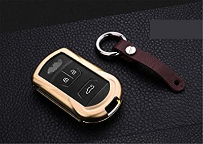 [MissBlue] Aircraft Aluminum Key Fob Cover For Chery Remote Key, Protector Case Fits Chery Arrizo 5 7 7e Tiggo 5 7 Car Key, Unisex Leather Key Fob Keychain for Men Key Fob Holder for Women