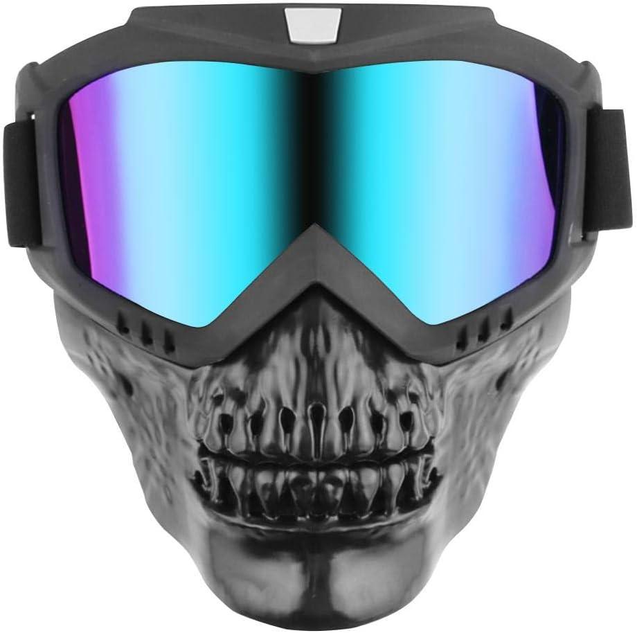 Máscara Modular ahomi Gafas Desmontables para Medio Casco de Motocicleta
