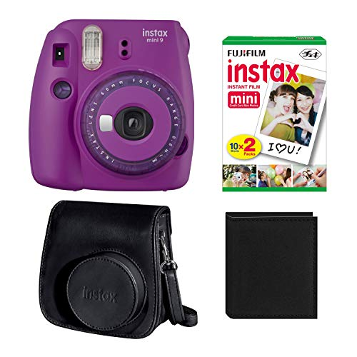 Fujifilm Mini 9 Instant Camera (Purple) with Twin Pack Film, Groovy Case & Album