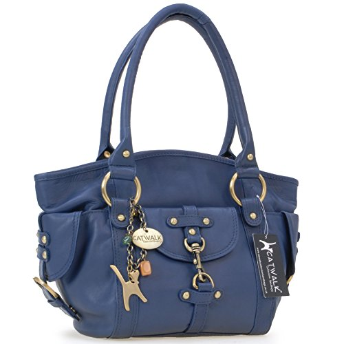 mano Bolso CATWALK Azul de KARLIE Cuero COLLECTION qI7O6