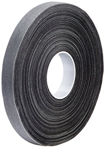 - 3M SJ3000 0.5in X 50ft Black Scotchmate Hook and Loop (1 Roll)