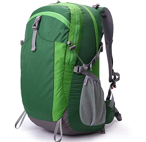 camping Bearing Bag GREEN Polyester Mountaineering Fabric 40L backpacking Water 30KG 40L Backpack woman Man Green Capacity Traveling AY Waterproof Size MBJDFX Load 2L Color qwCU4I4