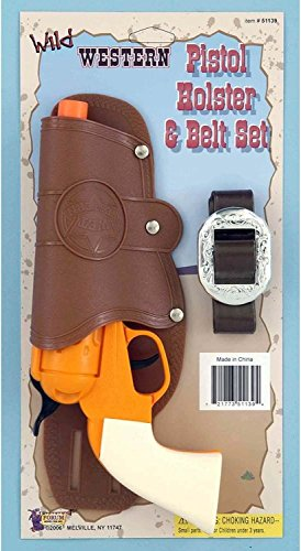 Single Toy Gun Holster Set (Lone Cowboy Adult Costume)