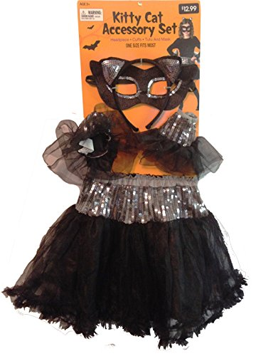 [Kitty Cat Halloween Accessory Set Black One Size Fits Most] (Walgreens Halloween Costumes)