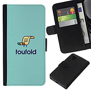 KLONGSHOP // Tirón de la caja Cartera de cuero con ranuras para tarjetas - loufold - LG Nexus 5 D820 D821 //