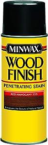 Minwax 32250000 Wood Finish Penetrates, Stains & Seals Aerosol Spray, 11.5 ounce, Red Mahogany