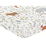 Sweet-Jojo-Designs-Fitted-Crib-Sheet-for-Woodland-Toile-BabyToddler-Girl-or-Boy-Bedding-Set-Collection-Animal-Print