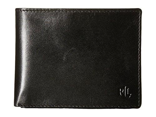 Lauren Ralph Lauren Men's Soft Burnished Leather Passcase Bifold Wallet,Black,One Size (Handbags Ralph Lauren Polo)