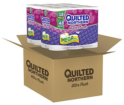 Quilted Northern Ultra Plush Bath Tissue, 18 Mega Rolls Toilet Paper, Pack of 2 (36 Mega Rolls)