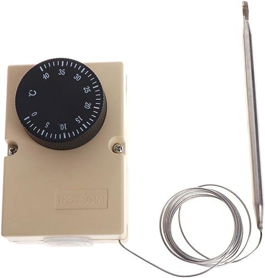 JENOR AC220V 0-40°C Interruptor de temperatura Capilar Termostato ...