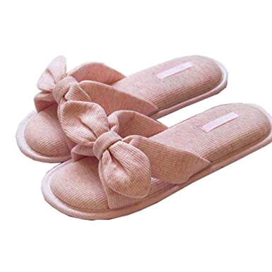 ab28e121acf6 Bow Slippers Women Memory Foam Shoes Fashion Open Toe Indoor Outdoor Slide