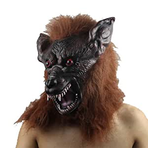 Halloween Scary Brown High-grade Latex Gnoll Mask for Halloween Party -- Cheap CLEARANCE STOCK Never Sale it again !!!!