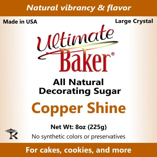 Ultimate Baker Copper Decorating Sugar - Kosher Certified Natural Large Crystal Decorating Sugar (8oz Bag Copper Colored Sugar) by Ultimate Baker (Image #5)