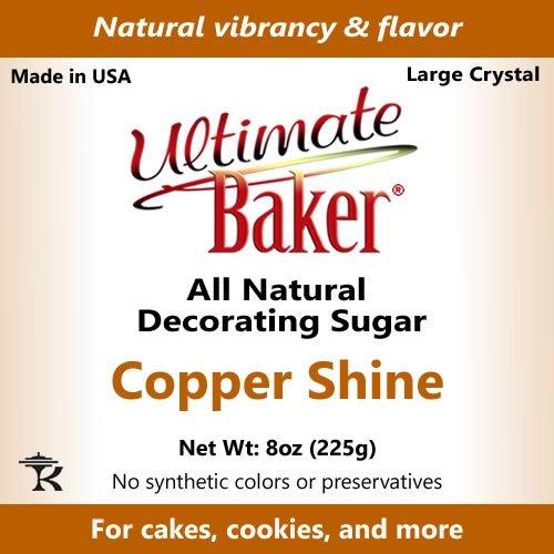 Ultimate Baker Copper Decorating Sugar - Kosher Certified Natural Large Crystal Decorating Sugar (8oz Bag Copper Colored Sugar) by Ultimate Baker (Image #4)