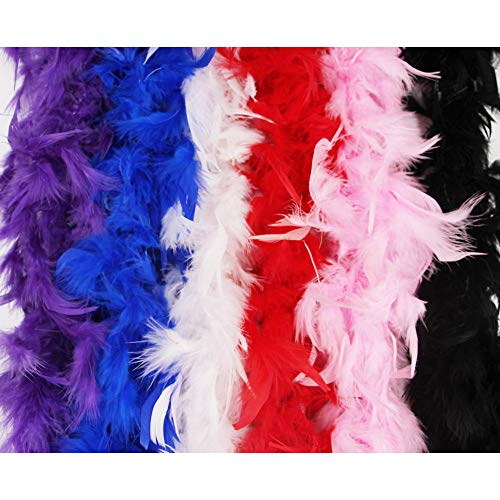 - Feather Boa Mardi Gras Costumes for Women Girls by ORVINNER | 6 Vibrant Colors, 40g x 6ft Long Feather Boas Party Supplies | Best Choice for Party Dress Ups/Mardi Gras Decorations