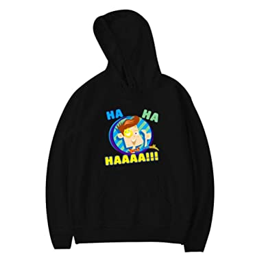 0cbca4f964 Amazon.com: Wnqonnq Casual Kids Hooded Sweatshirt - Ha Ha Haaa Fun ...