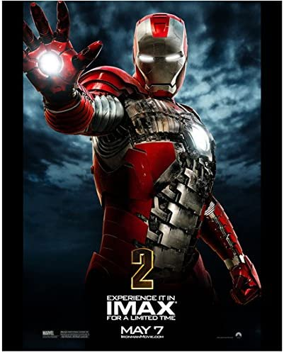 Iron Man 2 2010 11 Inch X 14 Inch Photograph Robert Downey Jr From Thighs Up Right Hand Out Glowing Imax Poster Kn At Amazon S Entertainment Collectibles Store