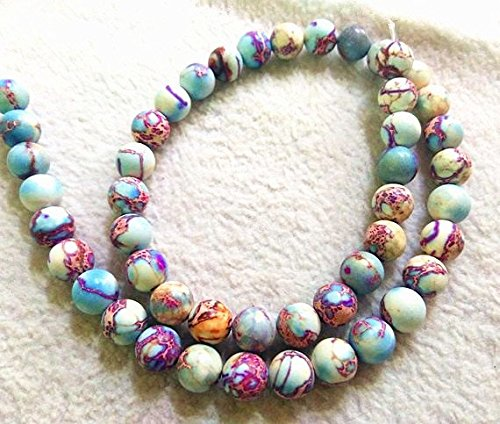 8mm Natural Impression Jasper Stone,lite Purple Round Ball Loose Beads Strand 16inch