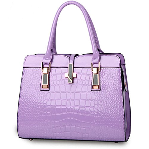 Purple New Bag Women Faux Handbag Lady Leather Tote Satchel Purse Hobo Fashion Shopper rrqvxw7