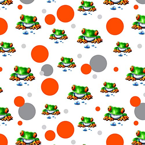 GRAPHICS & MORE Rainforest Red Eyed Tree Frog and Ant Premium Gift Wrap Wrapping Paper Roll