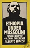 Ethiopia under Mussolini : Fascism and the Colonial Experience, Sbacchi, Alberto, 0862322553