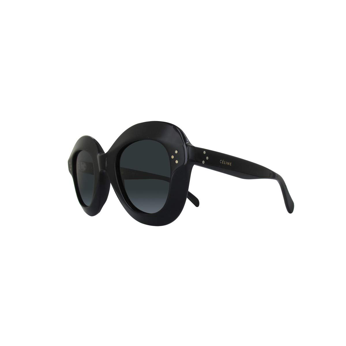 c4cd3418131a0 Celine CL41445 S 807 Black Lola Round Sunglasses Lens Category 3 Size 46mm  at Amazon Men s Clothing store