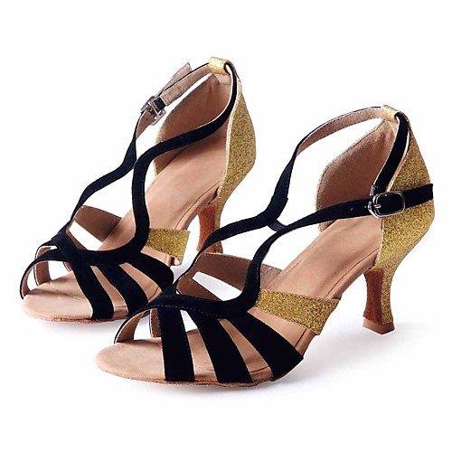 T.T-Q Angepasste Schuhe Geschlecht Tanz Obermaterial Kategorie Stil Heel Typ Anlass Wählen Sie Farbe Schwarz Gold