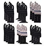 Tonsiki 20 Pieces Metal/Wood Mixed Oscillating Multitool Quick Release Saw Blades Kit for Dewalt,Stanley,Black and Decker,Bosch,Fein multimaster