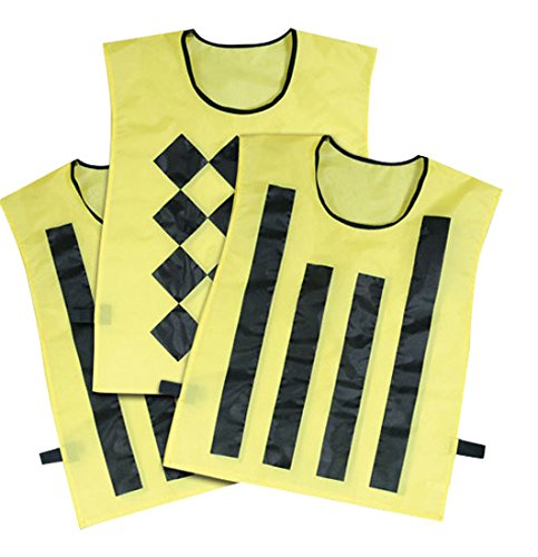 CHAMPRO Sideline Official Pinnies (3 Set), Yellow/Black