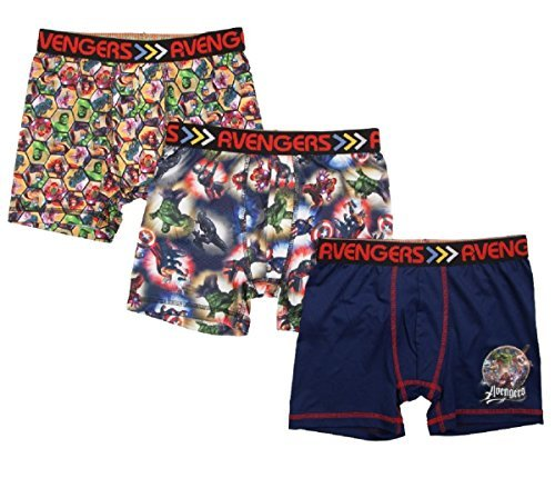 Fashion Marvel Comics Avengers Action Underwear 3 Pack Boxer Briefs - X-Small
