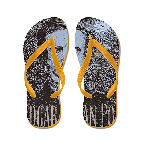 CafePress Edgar Allan Poe - Flip Flops, Funny Thong Sandals, Beach Sandals Orange