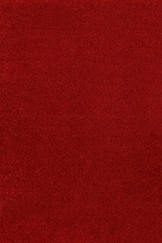 Home Cool Solid Colors Wind Dancer Collection Area Rugs Red - ()