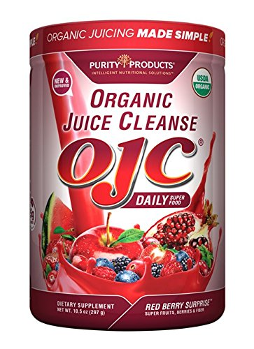 Certified Organic Juice Cleanse (OJC) OJC Super Reds 5 Grams Fiber, 10.5 oz (297 g)
