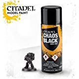 Citadel Colour - Chaos Black Primer / Undercoat Spray (Mainland UK Delivery Only)